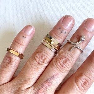 Set of 8 midi rings